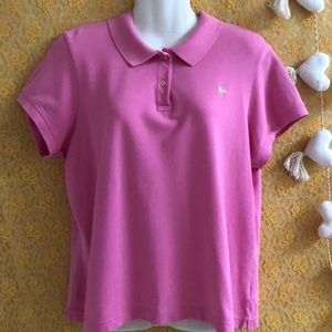 Lilly Pulitzer pink shrunken style polo sz XL